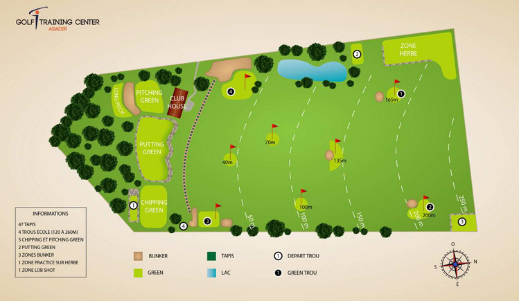 Plan Aagadir golf training center Maroc