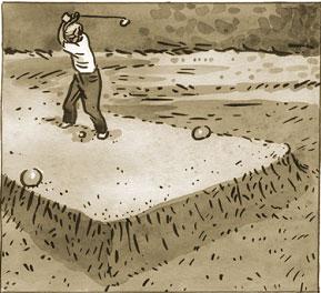 depart de golf